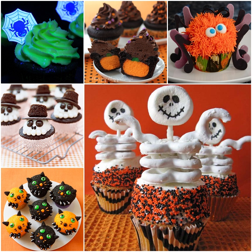 8 recipes for diy halloween cupcakes for Easy halloween cakes to make at home